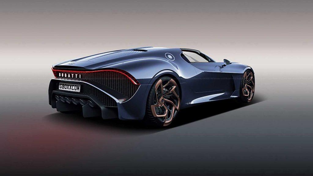 bugatti la voiture noire roadster rendering 1024x576 - The most expensive car in the world: Bugatti la voiture noire