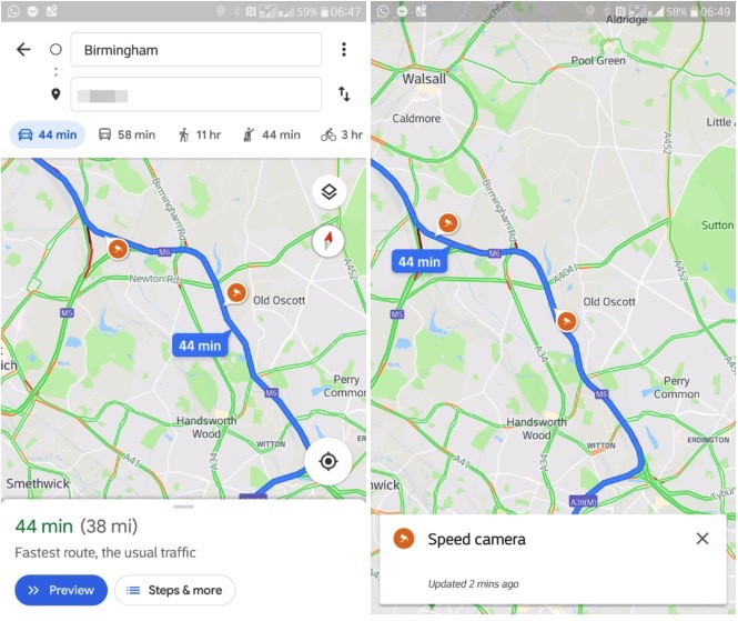 google maps speed traps feature - Google Maps upgrade │ Speed trap Warning