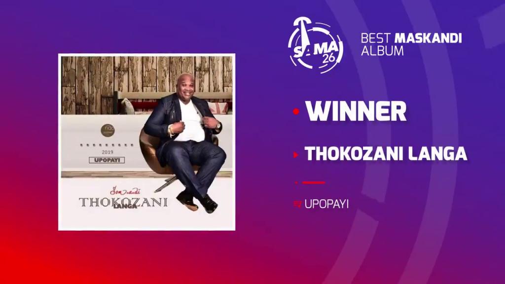 Thokozani Langa wins at SAMA 26