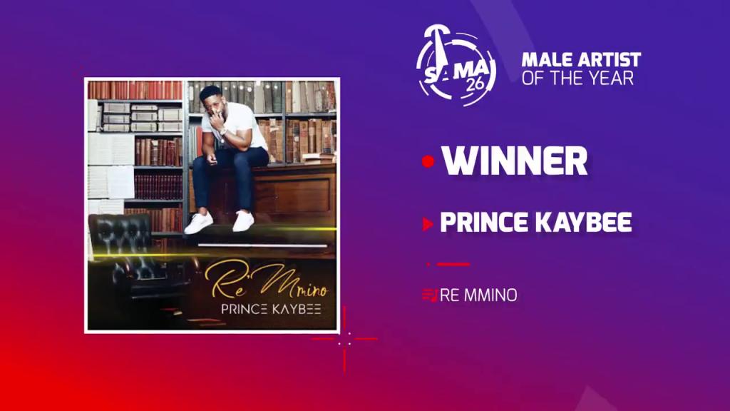 Prince Kaybee wins at SAMA 26