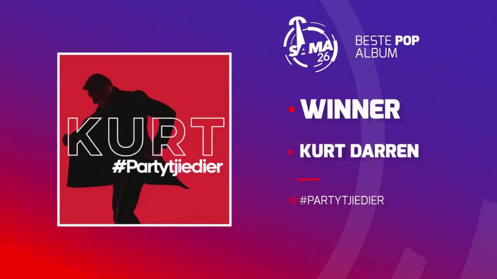 Kurt Darren wins at the SAMA Awards 2020