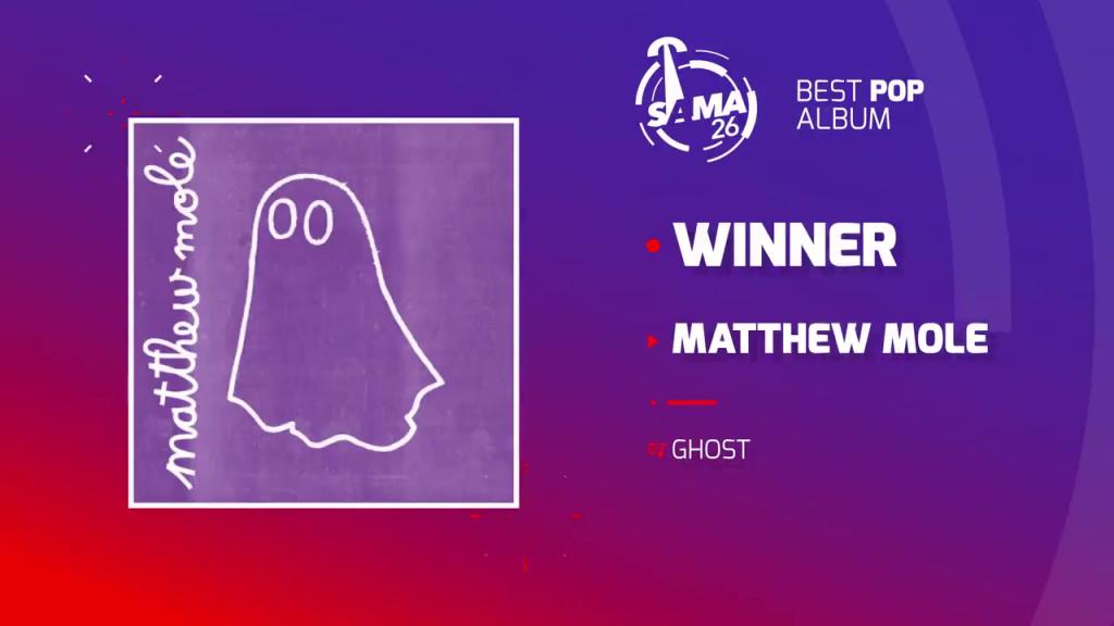 Mathew Mole wins at the SAMA Awards 2020