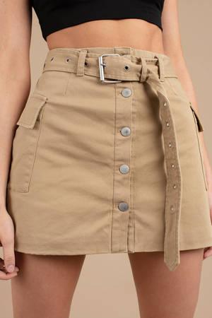 khaki on duty cargo mini skirt - khaki-on-duty-cargo-mini-skirt